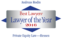 Andreas Rodin -Best Lawyers, lawyer of the year 2016