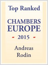 Andreas Rodin - Top ranked in Chambers Europe 2015