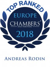 Andreas Rodin - Top ranked in Chambers Europe 2018