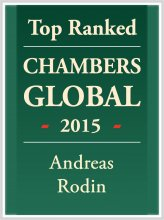 Andreas Rodin - Top ranked in Chambers Global 2015