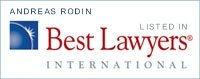 Andreas Rodin - recognized by Best Lawyers International