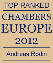 Andreas Rodin - Top ranked in Chambers Europe 2012