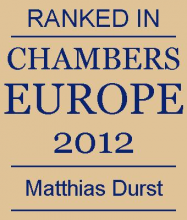 Matthias Durst - ranked in Chambers Europe 2012