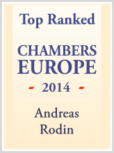 Andreas Rodin - Top ranked in Chambers Europe 2014
