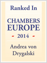 Andrea von Drygalski - ranked in Chambers Europe 2014