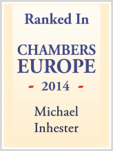 Michael Inhester - ranked in Chambers Europe 2014