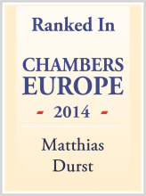 Matthias Durst - ranked in Chambers Europe 2014