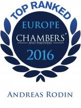Andreas Rodin - Top ranked in Chambers Europe 2016