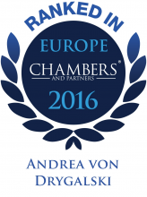 Andrea von Drygalski - ranked in Chambers Europe 2016