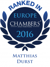 Matthias Durst - ranked in Chambers Europe 2016