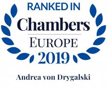 Andrea von Drygalski - ranked in Chambers Europe 2019