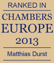 Matthias Durst - ranked in Chambers Europe 2013