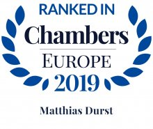 Matthias Durst - ranked in Chambers Europe 2019