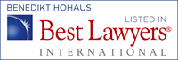 Benedikt Hohaus - recognized by Best Lawyers International