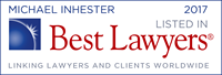 Michael Inhester - recognized by Best Lawyers 2017