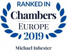 Michael Inhester - ranked in Chambers Europe 2019