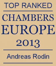 Andreas Rodin - Top ranked in Chambers Europe 2013