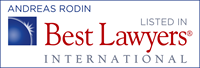 Andreas Rodin - recognized by Best Lawyers 2014-2015
