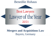 Benedikt Hohaus - Best Lawyer of the Year 2021