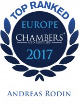 Andreas Rodin - Top ranked in Chambers Europe 2017
