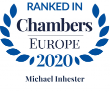 Michael Inhester - ranked in Chambers Europe 2020