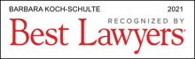 Barbara Koch-Schulte - recognizes by Best Lawyers 2021